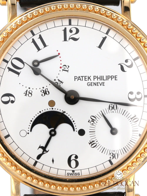 35094: Patek Philippe 18k Yellow Gold Moonphase Ref. 5015J