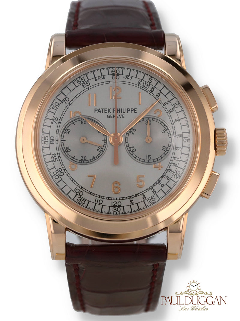 35138: Patek 18k Rose Gold Chronograph Ref. 5070R