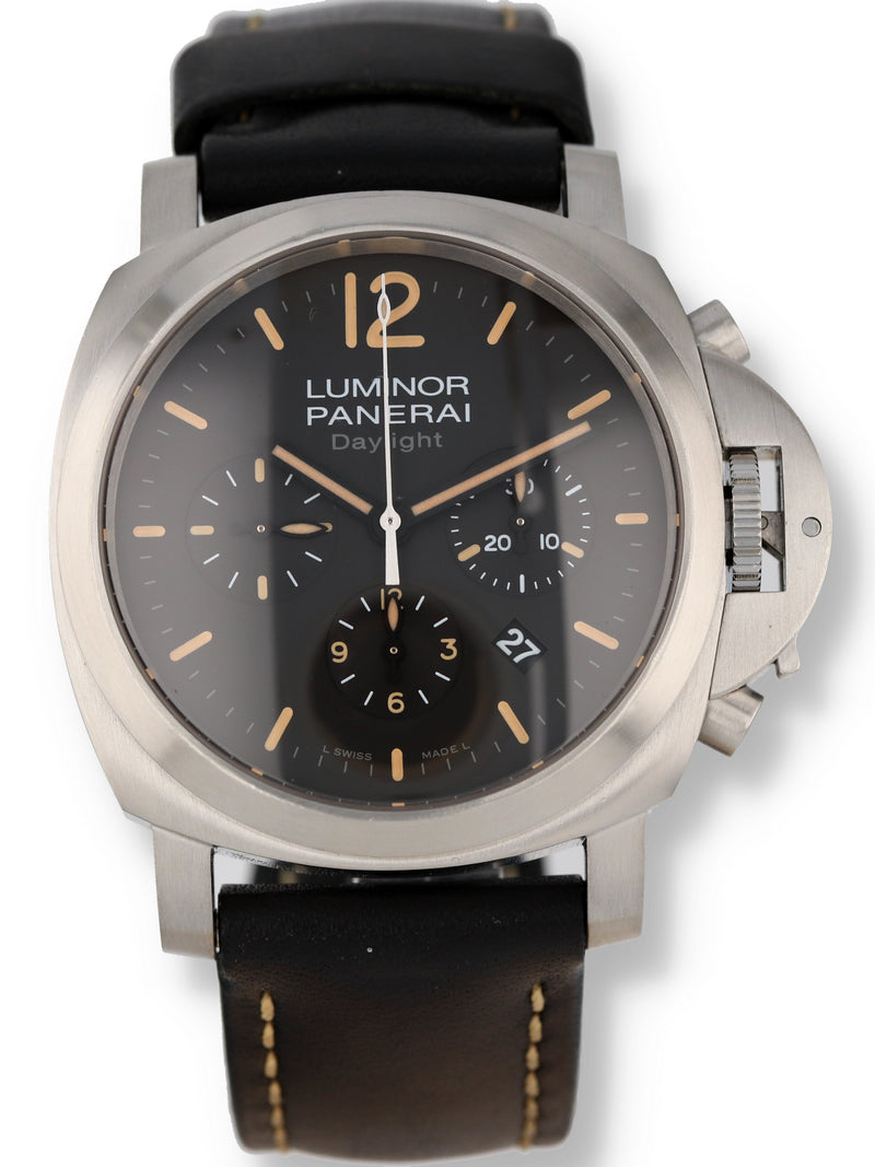 35483: Panerai stainless steel Luminor Daylight Chronograph, Ref. PAM00356