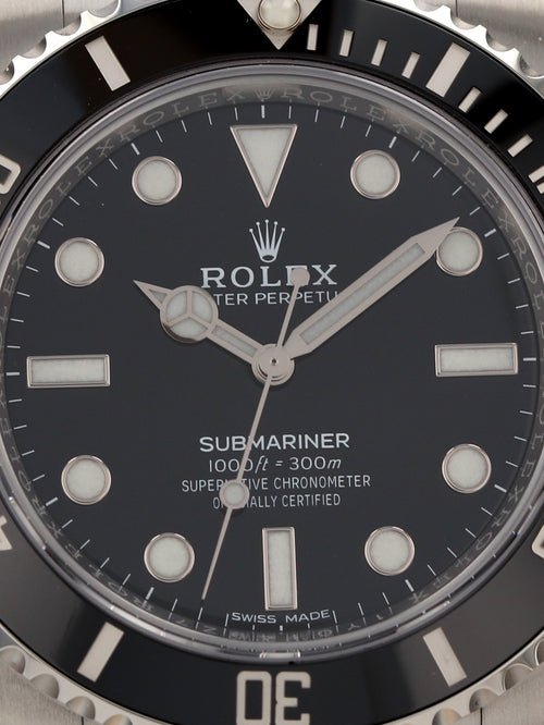 "35505: Rolex Submariner ""No Date"", Ref. 114060, Unworn 2020"