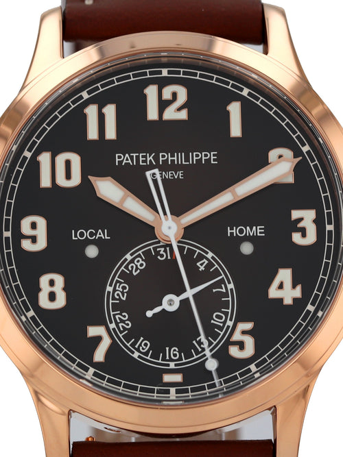 35510: Patek Philippe Calatrava Pilot Travel Time Ref. 5524R