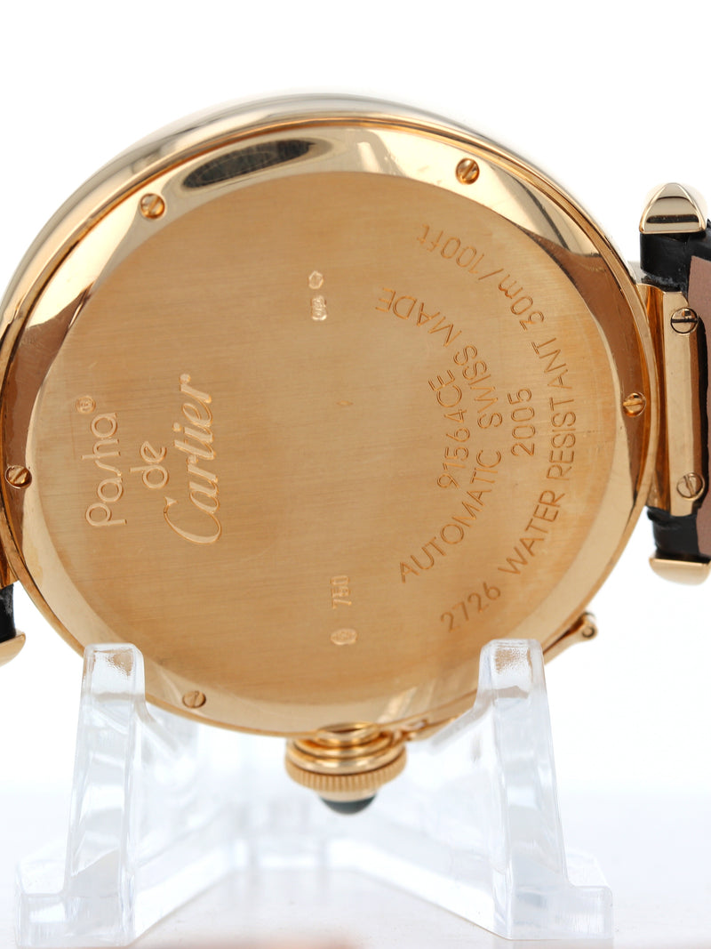35518: Cartier 18k Yellow Gold Pasha 41, Ref. W3019351