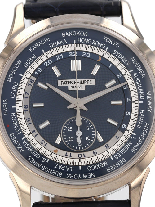 35563: Patek Philippe World Time Chronograph, Ref. 5930G-010, 2017 Full Set