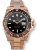 35611: Rolex 18k Rose Gold GMT-Master II, Ref. 126715CHNR, Unworn 2019 Full Set