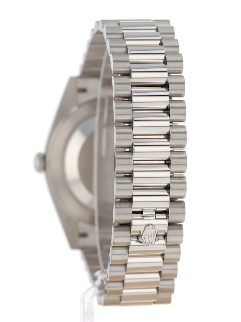 35612: Rolex Platinum Day-Date 40, Ref. 228206, Unworn 2020 Full Set