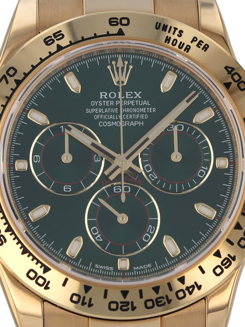 35635: Rolex 18k Yellow Gold Daytona, Ref. 116508, 2017 Full Set