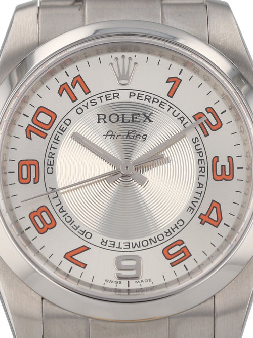 35657: Rolex Stainless Steel Air-King, Ref. 114200, Circa 2008