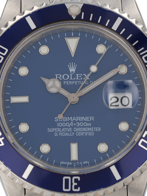 "35662: Rolex 1986 ""Transitional"" Submariner, Ref. 16800"
