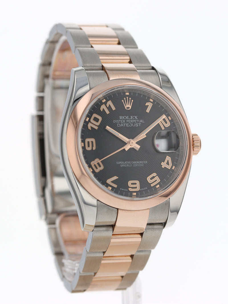 35665: Rolex Stainless Steel and Rose Gold Datejust, Ref. 116201, 2008 Full Set