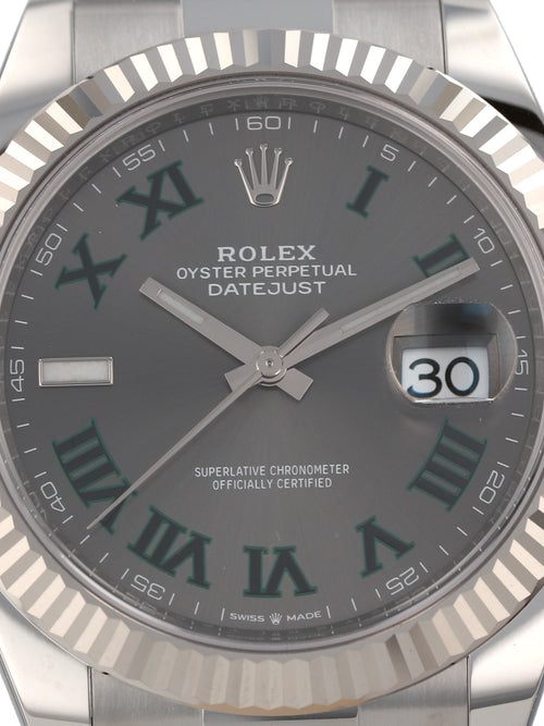 "35667: Rolex ""Wimbledon"" Datejust 41, Ref. 126334, Unworn 2020 Full Set"