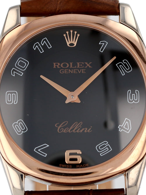35677: Rolex 18k Rose and White Gold Cellini Danaos, Ref. 4233, Circa 2001