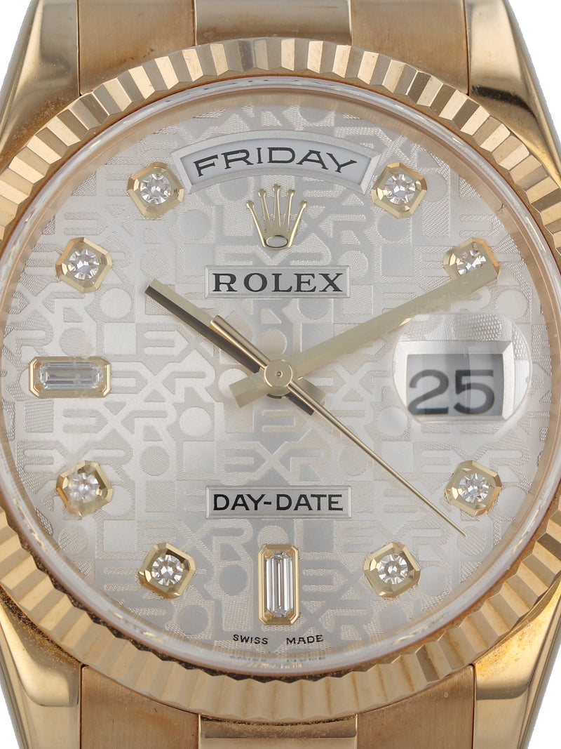 35684: Rolex 18k Day-Date, Ref. 118238, 2005 Full Set