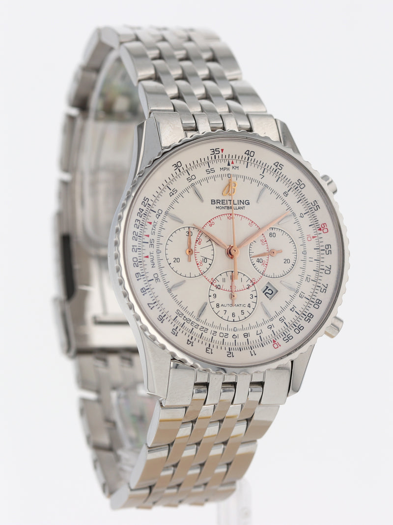 35705: Breitling Montbrilliant Chronograph, Ref. A41370, 2011 Full Set
