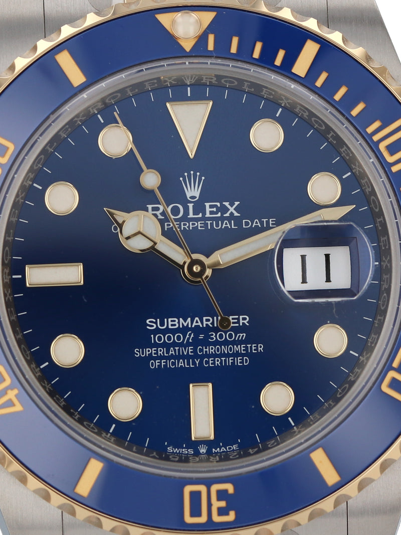 35716: Rolex Submariner 41, Ref. 126613LB, 2020 Unworn Full Set