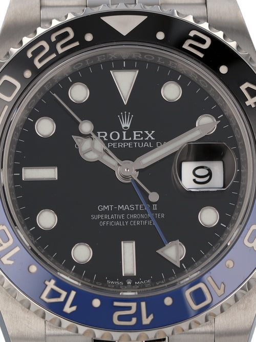 35815: Rolex Stainless Steel GMT-Master II, Batman Jubilee, Ref, 126710BLNR, 2019 Full Set