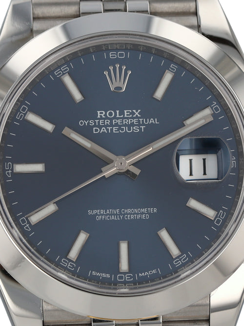 35822: Rolex Datejust 41, Ref. 126300, 2018 Full Set