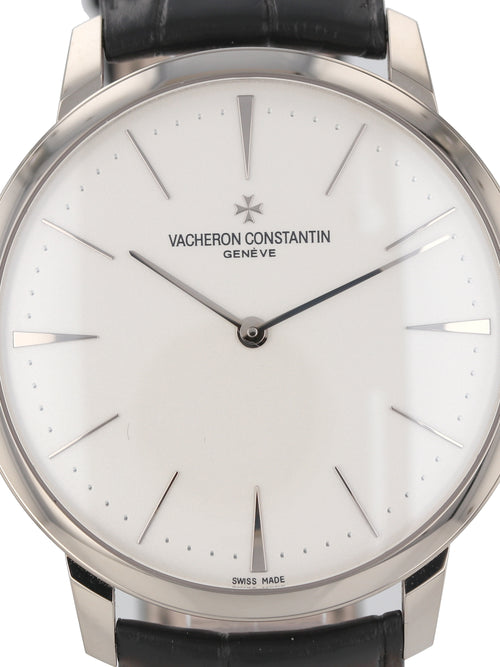 (On HOLD) 35841: Vacheron Constantin 18k white gold Patrimony Grand Taille, Size 40mm, Ref. 81180