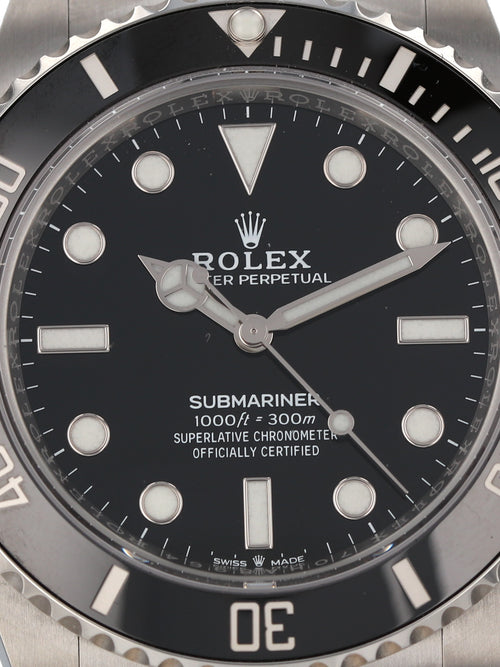 "35846: Rolex Submariner ""No Date"", Ref. 124060, Unworn 2021"