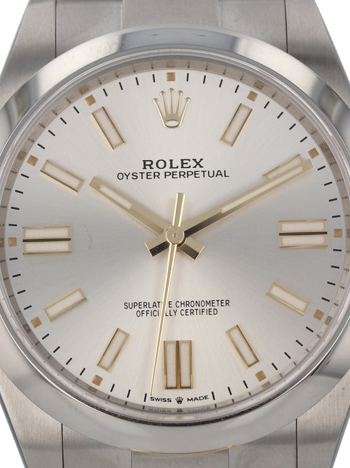 35982: Rolex Oyster Perpetual 41, Ref. 124300, 2020 Full Set