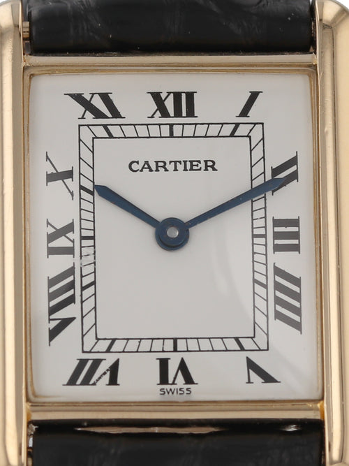 35903: Cartier 18k Yellow Gold Tank Classic, Quartz