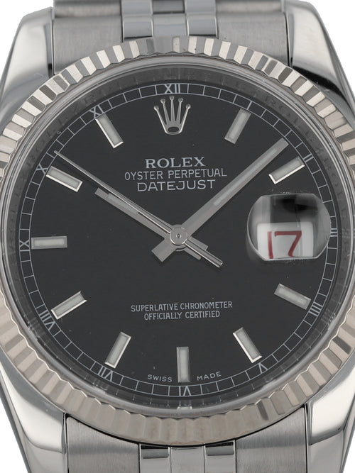 35936: Rolex Stainless Steel Datejust, Ref. 116234, 2007 Full Set