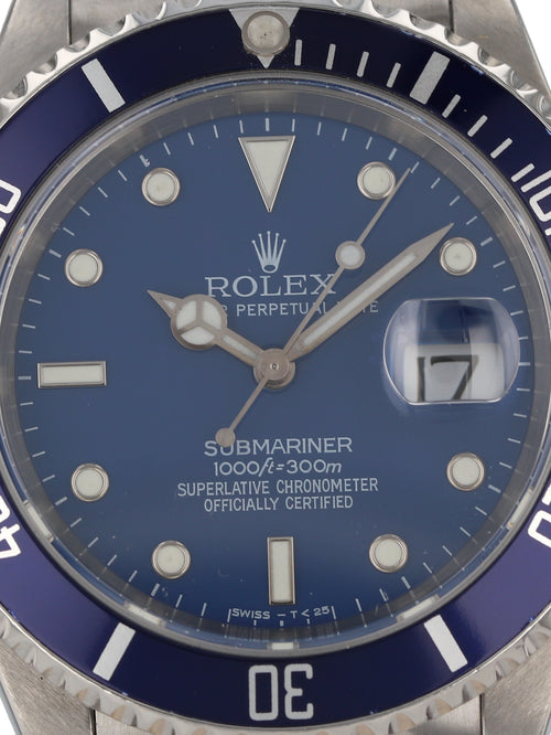 (ON HOLD) 35949: Rolex Submariner, Custom Dial and Bezel, Ref. 16610, Circa 1999