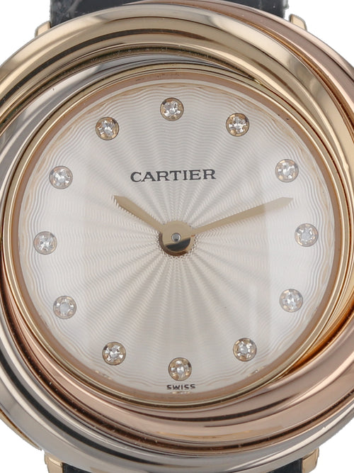 35963: Cartier Gold Ladies Trinity, Quartz