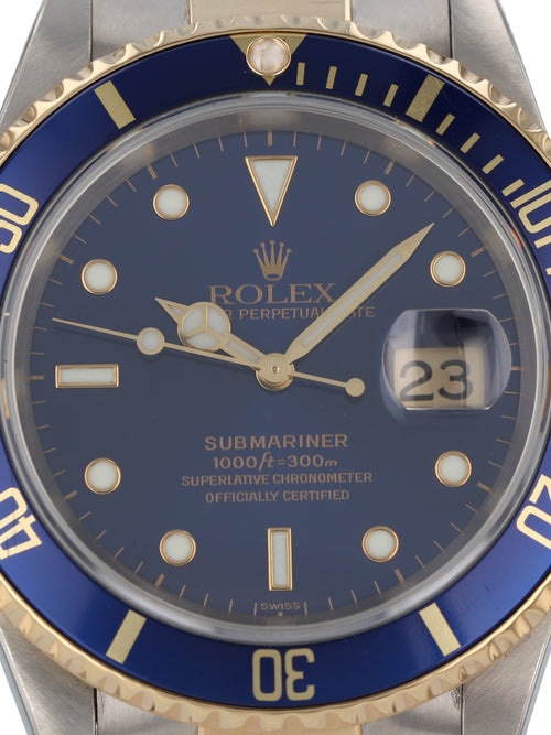 (On Hold) 35998: Rolex Submariner, Ref. 16613, 1997 Full Set