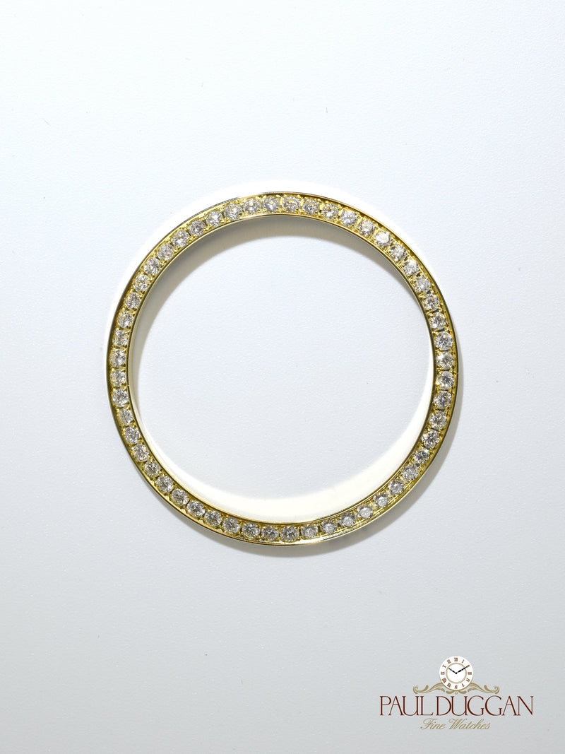 18k Yellow Gold 36mm Diamond Bezel