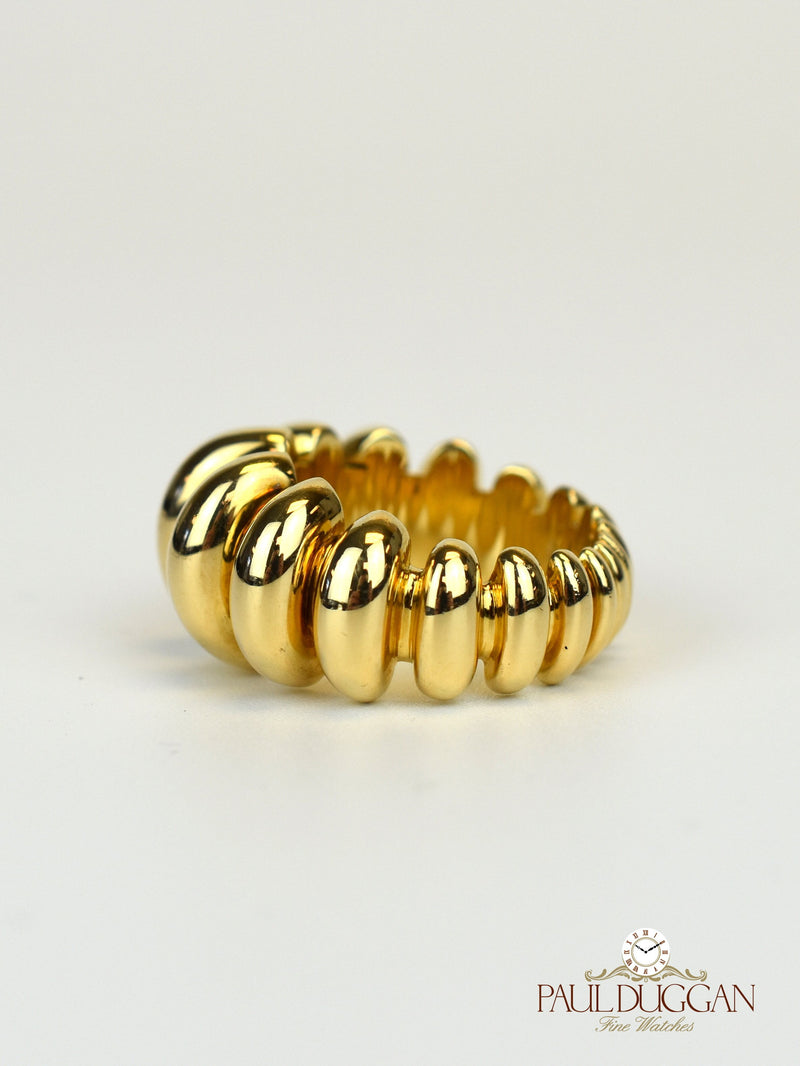 18k Yellow Gold Cocktail Ring Size 7 - 7.5