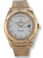 J35686: Rolex 18k Yellow Gold Day-Date 41, Ref. 218238, 2012 Full Set