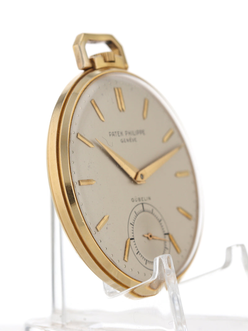 J35729: Patek Philippe 18k Gubelin Pocketwatch, Circa 1940's