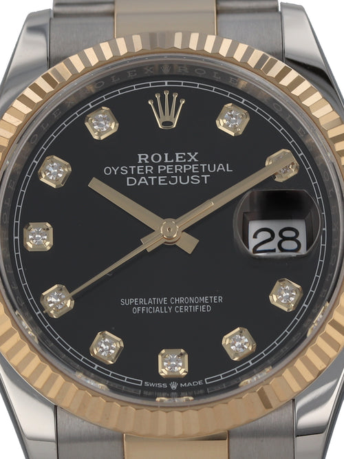 J35962: Rolex Datejust 36, Ref. 126233, 2020 Full Set