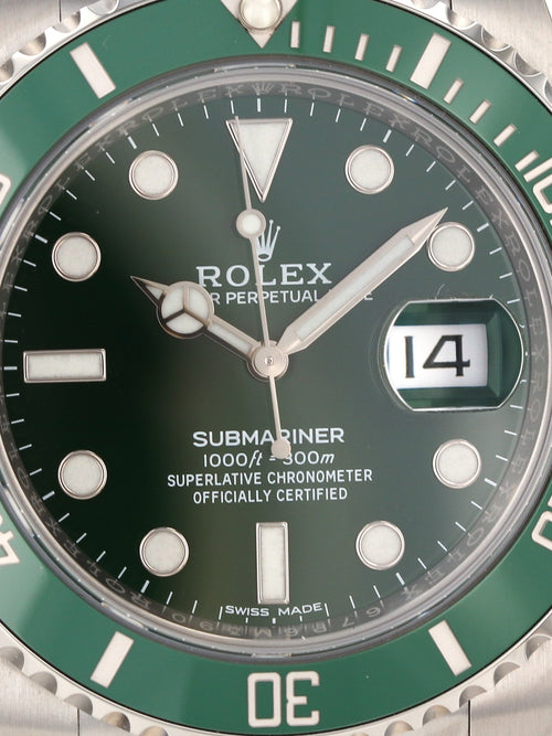 "M35426: Rolex Submariner ""Hulk"" 2018 Unworn"