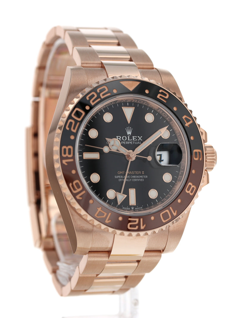 "M35551: Rolex 18k Rose Gold ""Root Beer"" GMT-Master II, Ref. 126715CHNR, 2020 Full Set"