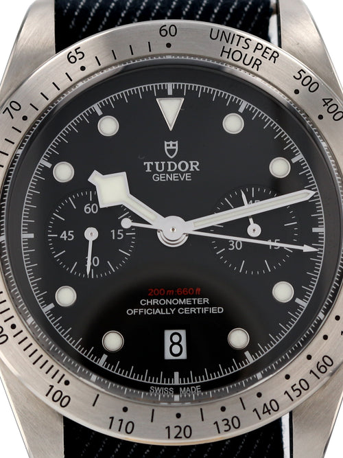 M35616: Tudor Heritage Black Bay Chronograph, Ref. M79350, 2018 Full Set