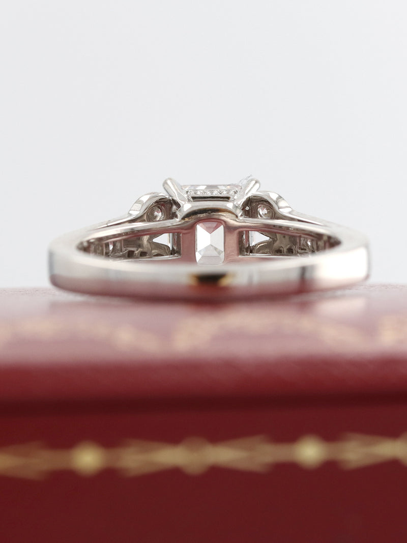 M35663: Cartier Ballerine Platinum Ring, Complete with Box and Papers