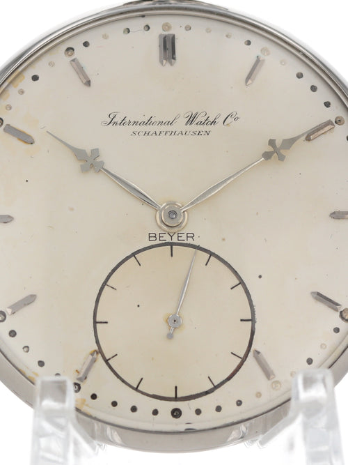 M35692: IWC Stainless Steel Pocketwatch