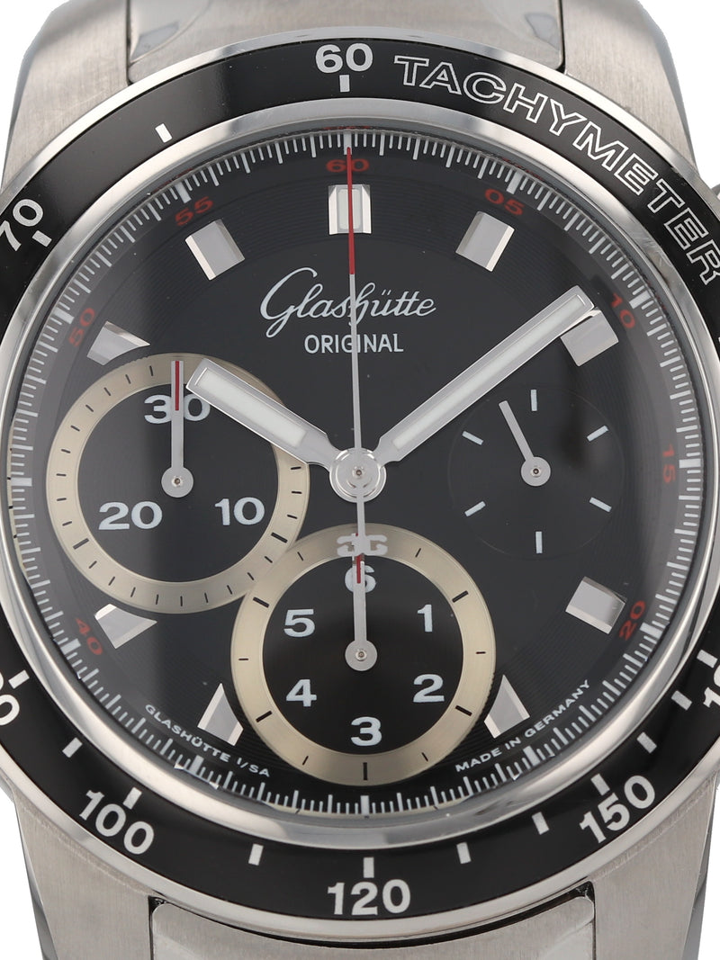 M35735: Glasshutte  Sport Evolution Chronograph, Ref. 39.31.43.03.14, Full Set