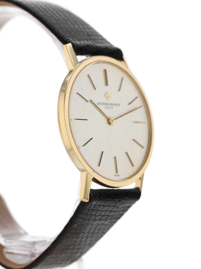 P50551: Vacheron 18k Yellow Gold Ultra Thin, Ref. 7593