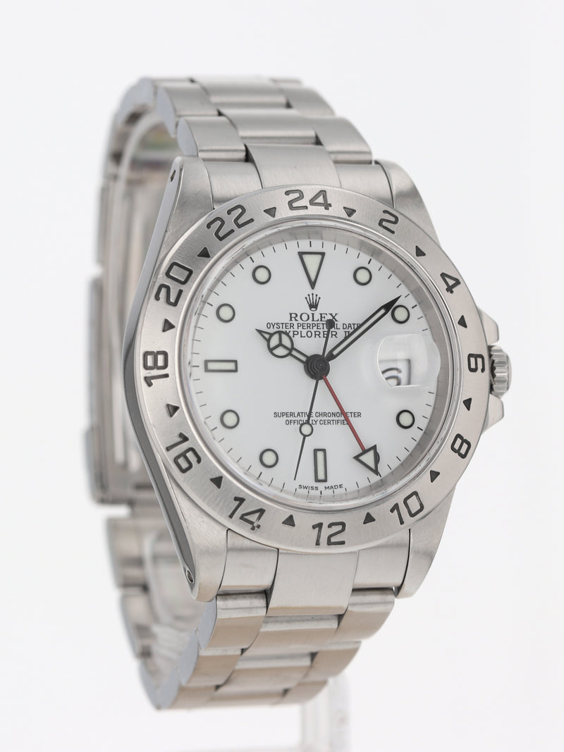 P50557: Rolex Stainless Steel Explorer II, Ref. 16570, Full Set