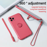 Ultra-Thin Silicone Magnetic Holder Phone Case For iPhone