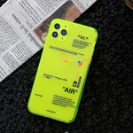Fluorescent Off White Fashion Phone Case for iPhone
