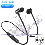 RayX Bluetooth Wireless Sport Earphones, HiFi Bass Stereo Sweatproof Earbuds W/Mic, Noise Cancelling Headset for Workout