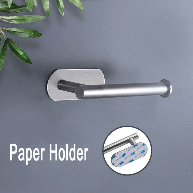 Kitchen Organizer Paper Towel Holder Cling Film Cutting  Holder