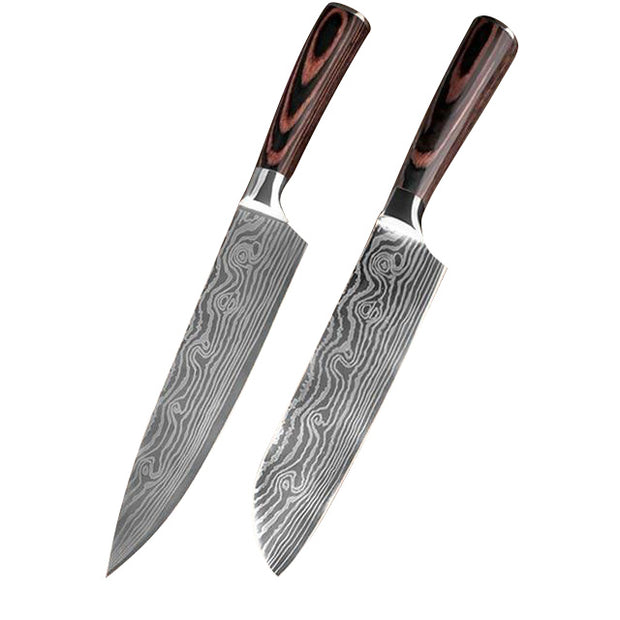 Izituba Stainless Steel Ultra Sharp Kitchen Knives Set. Izituba Stainless Steel Ultra Sharp Kitchen Knives Set. - EasyChefLife.com