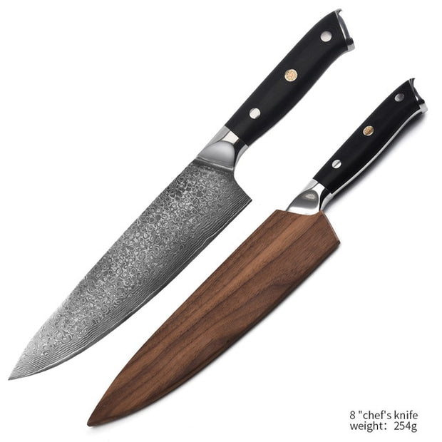 Hand Crafted TUKAKU Damascus Steel Chef Knives Set Hand Crafted TUKAKU Damascus Steel Chef Knives Set - EasyChefLife.com