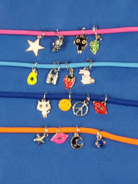 4 Pack Adjustable Cord Mask Holder & Necklace With Charms