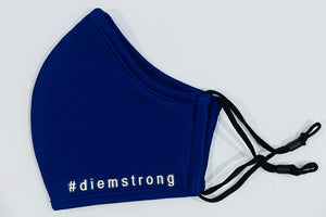 #diemstrong - White on Royal blue