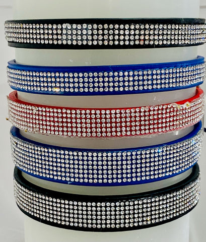 Custom Dog Collar, Fancy, Rhinestone, Collar For Females, Small, Medium and Large, Sparkle Collar, Bling Collar, Luxury PU Leather Collar